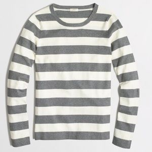 J crew striped rugby pullover